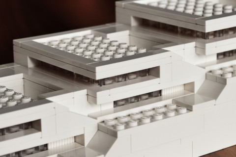 Architectural model from LEGO